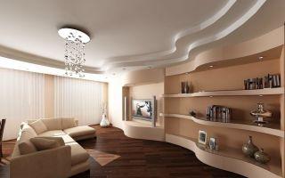 Как сделать потолок из гипсокартона в гостиной