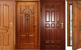 Входные двери из массива: варианты и модели