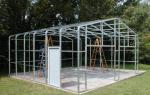 Строим гараж из металлопрофиля собственными силами