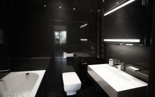Ванные комнаты в черных тонах