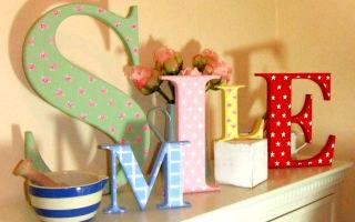 Буквы своими руками в интерьере