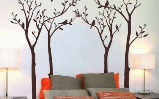 Имитация дерева на стене: необычный элемент изобретательного дизайна