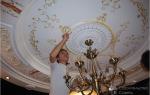 Как украсить потолок своими руками: лепнина, роспись, фотообои