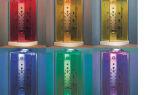 Разноцветные душевые кабины
