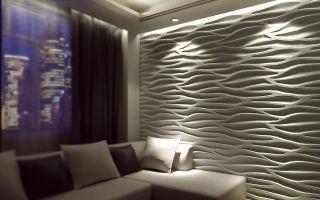 3d дизайн комнаты, 3d панели в интерьере