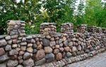 Строительство забора из речного камня