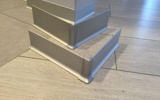 Использование алюминиевого плинтуса для пола
