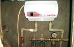 Монтаж проточного водонагревателя