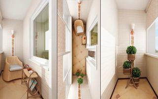 Варианты дизайна узкого балкона