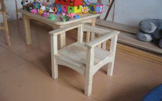 Детский столик и стульчик своими руками (фото)
