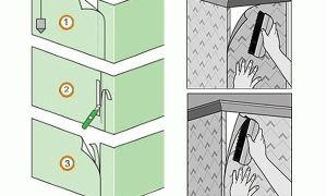 Как клеить виниловые обои: углы внутренние и внешние