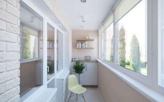 Варианты отделки лоджии и балкона