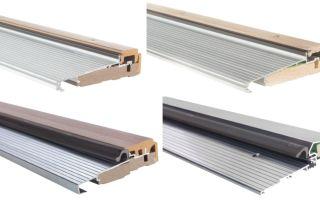 Металлические порожки : высота алюминиевых и пвх изделий
