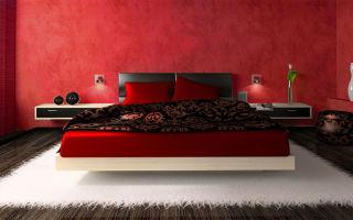 Красные спальни