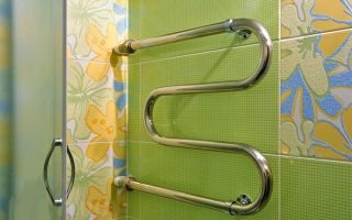 Установка сушилки для полотенец в ванной комнате