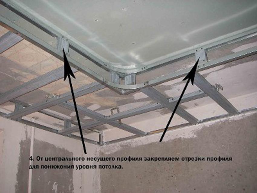 двухуровневый подвесной потолок своими руками